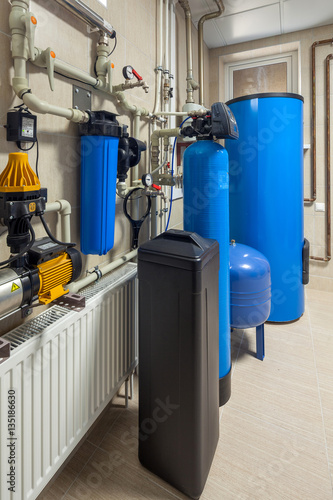 Private boiler copper pipe with hot water stock photo for Copper water boiler