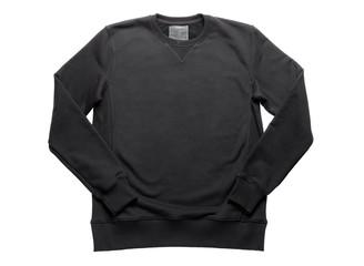 black sweatshirt isolated on white background