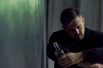 Alcohol addicted man