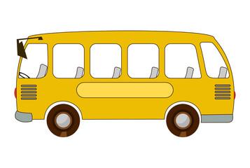 Школьный автобус. Векторная иллюстрация изолированно на белом фоне.