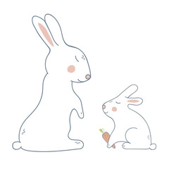 Mother Rabbit with Child