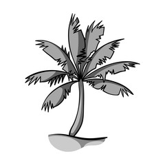 Palm tree icon in monochrome style isolated on white background. Surfing symbol stock vector illustration.
