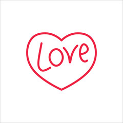love in heart line icon