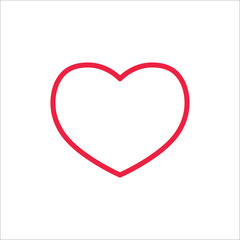 heart love symbol valentine line icon