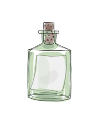 Message in a Bottle hand drawn vector cute illustration 3