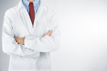 Doctor on white background