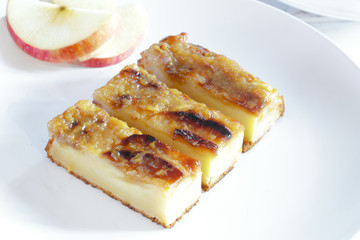 Slices of delicious Homemade apple tart
