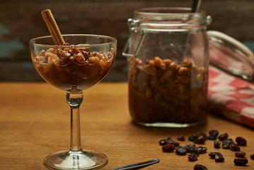 raisin on brandy (boerenjongens) according to old Dutch recipe.