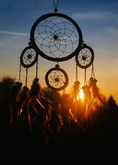 indianischer Traumfänger im Sonnenlicht