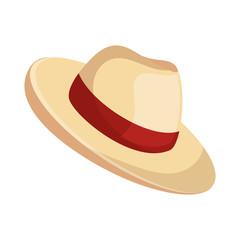 beach hat panama icon vector illustration design