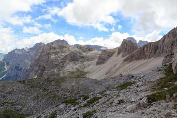 Sexten Dolomites mountain panorama in South Tyrol, Italy
