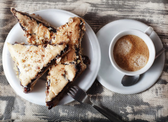 coffee and cake background