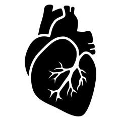 Herz-Icon / Vektor, schwarz-weiß