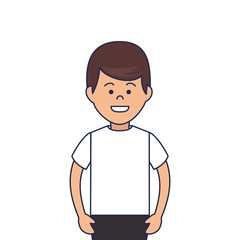 young man character icon vector illustration design