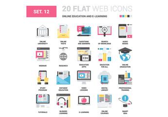 20 CMYK-Styled E-Learning Icons