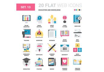20 CMYK-Styled Education Icons