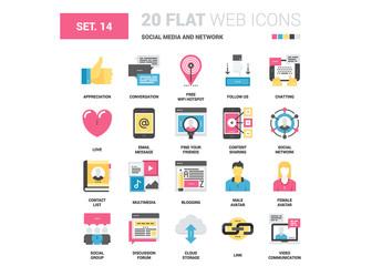 20 CMYK-Styled Social Media Icons