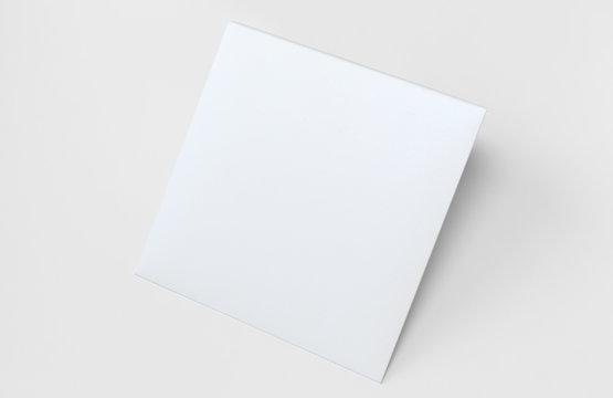 White Square Envelope Mock up, Isolated on white background