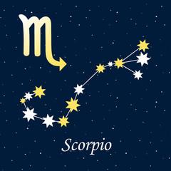 constellation Scorpio zodiac horoscope astrology stars night ill