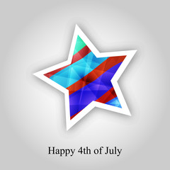 Illustration of U.S.A Independence Day background