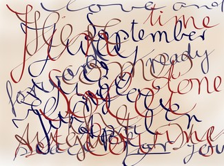 Calligraphic Background
