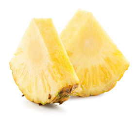 pineappler slices isolated on the white background