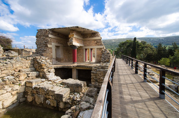 Ruins of the ancient palace of Knossos, Crete, Greece