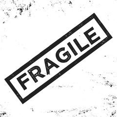 Fragile vintage stamp