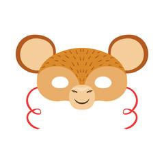 Monkey Animal Head Mask, Kids Carnival Disguise Costume Element