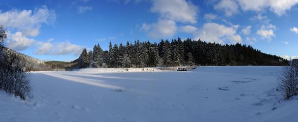 Panorama Stausee Glaadt
