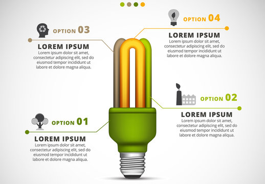 Ecology Infographic with Light Bulb Element