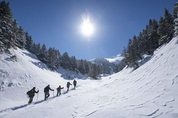 kış yürüyüşü zirve tırmanışı