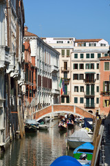 Water canal in Venice - Italy.