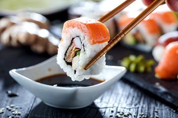 Printed roller blinds Sushi bar Sushi Verschiedene sorten