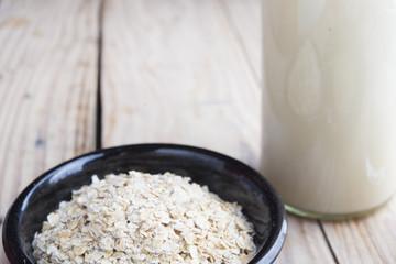 Breakfast vegan, milk of oast