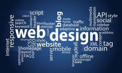 Web design - Cloud - blue