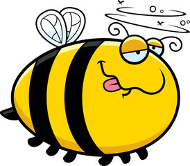 Cartoon Drunk Bee