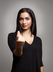 Woman Hand Beckoning