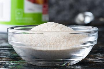 Pectin powder in an ingredient bowl