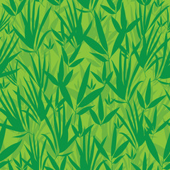 Vector Fresh Green Asian bamboo Kimono Seamless Pattern Background. Great for elegant gray texture fabric, cards, wedding invitations, wallpaper.