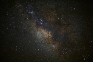 Milky Way Galaxy, Long exposure photograph, with grain