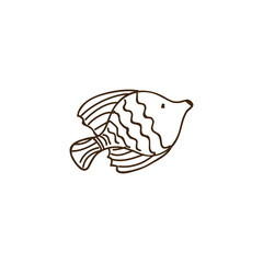 silhouette ballet fish animal marine design vector illustration