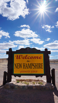 Welcome to New Hampshire state concept