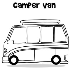 Transportation collection of camper van