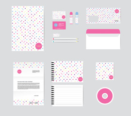 corporate identity template for your business includes CD Cover,