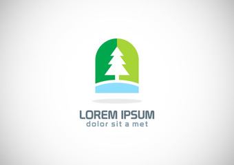 pine tree icon vector logo