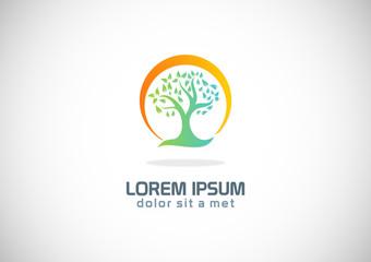 tree nature ecology logo
