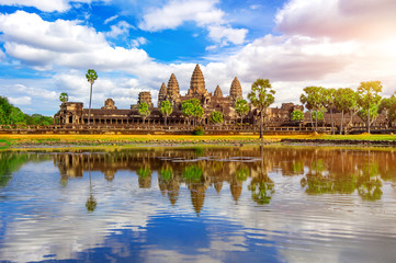 Angkor Wat Temple, Siem reap in Cambodia.