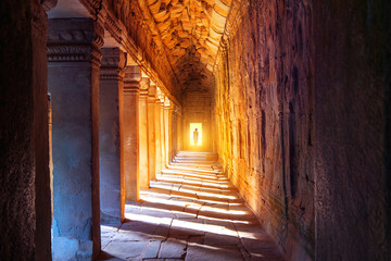 The monks in Angkor Wat, Siam Reap, Cambodia.