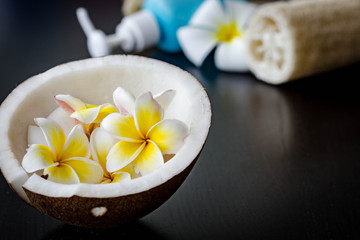 coconut and Plumeria flower
